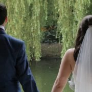 Couple weeping Willows The Dairy wedding venue