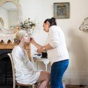 Bride preps Fetcham park wedding