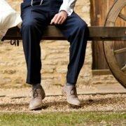 Couple cart Tythe Barn Launton wedding film