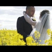 Fields of yellow a wedding at Notley Farm Barn