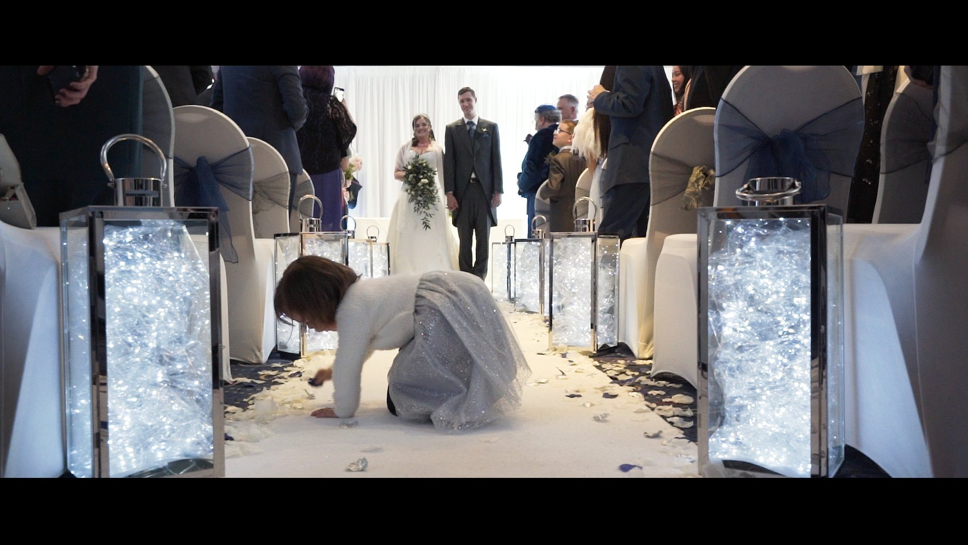 Walk down the isle Aidan Sam wedding film The Oxfordshire