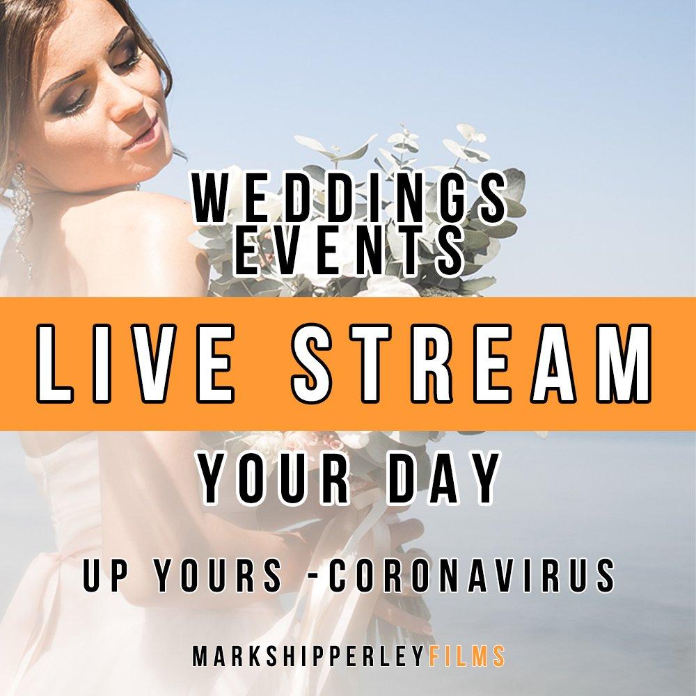 live stream wedding corona virus