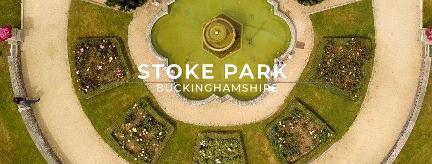 Stoke park aerial shot above full
