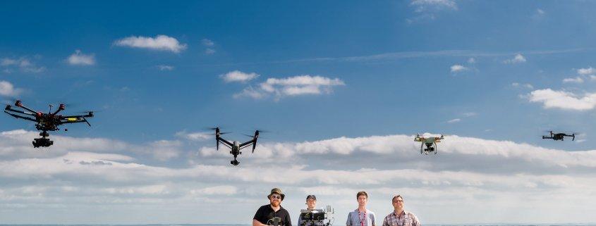 wedding drone team